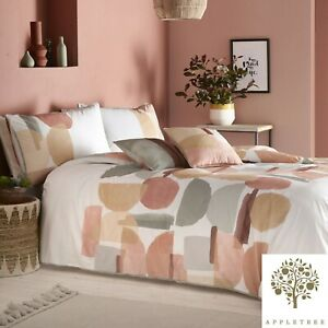 Appletree-DUVAL-Coral-180-TC-100-Cotton-Percale-Duvet-Cover-Set