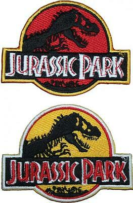 "Jurassic Park Logo Badge Embroidered Patch 3.75"" 2 Colours"
