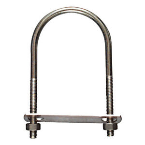 "1.50/"" Antenna Mounting Flanged Nuts Saddle 1 Set of 1-1//2/"" Stainless U-Bolt"