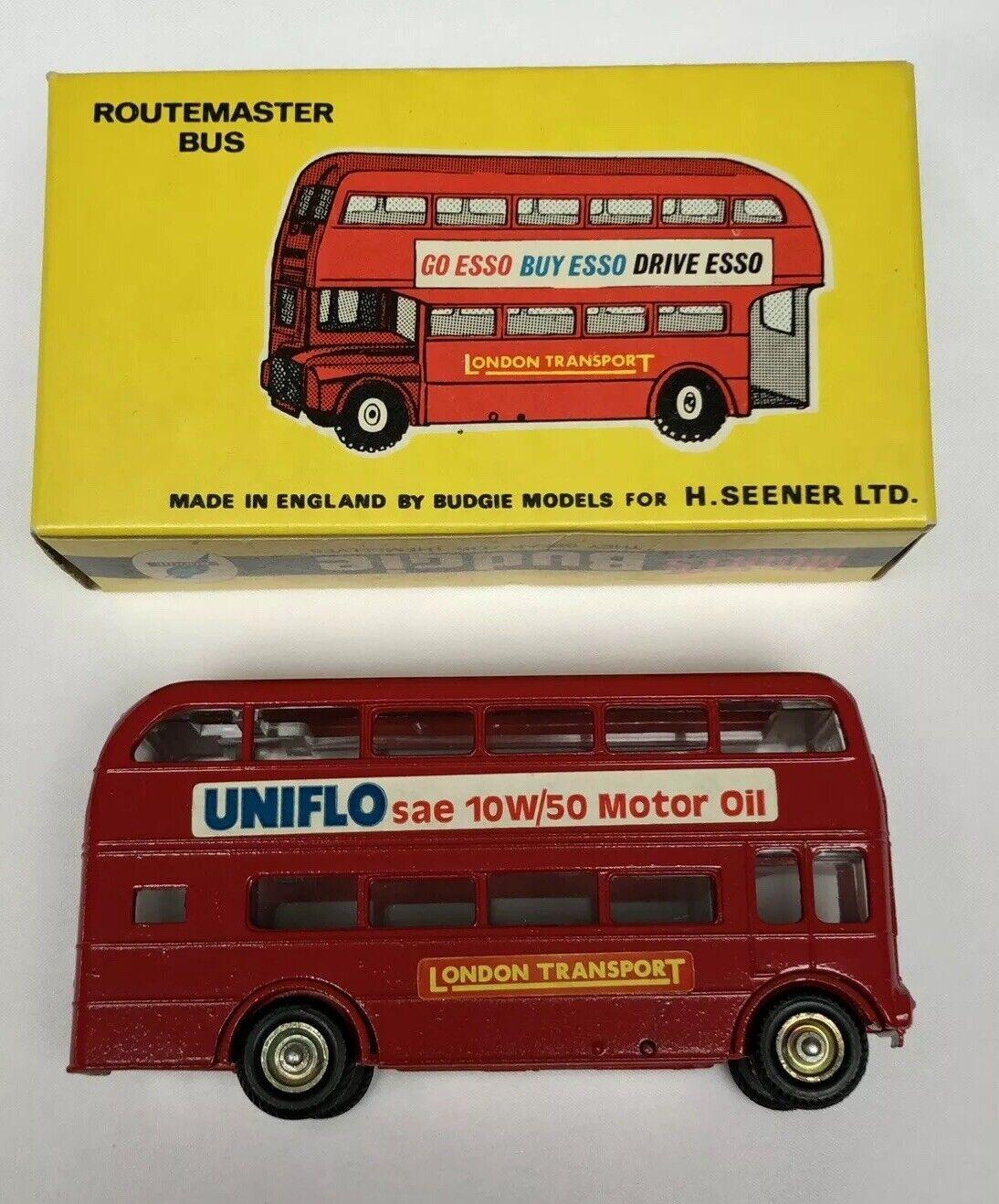 Budgie Toys 236 London Routemaster Bus-Uniflow SAE 10 50 Aceite de Motor-Nuevo Y En Caja