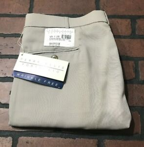 Perry-Ellis-Portfolio-Wrinkle-Free-Pleated-Cuffed-Dress-Pants-Men-039-s-Size-34-x-30