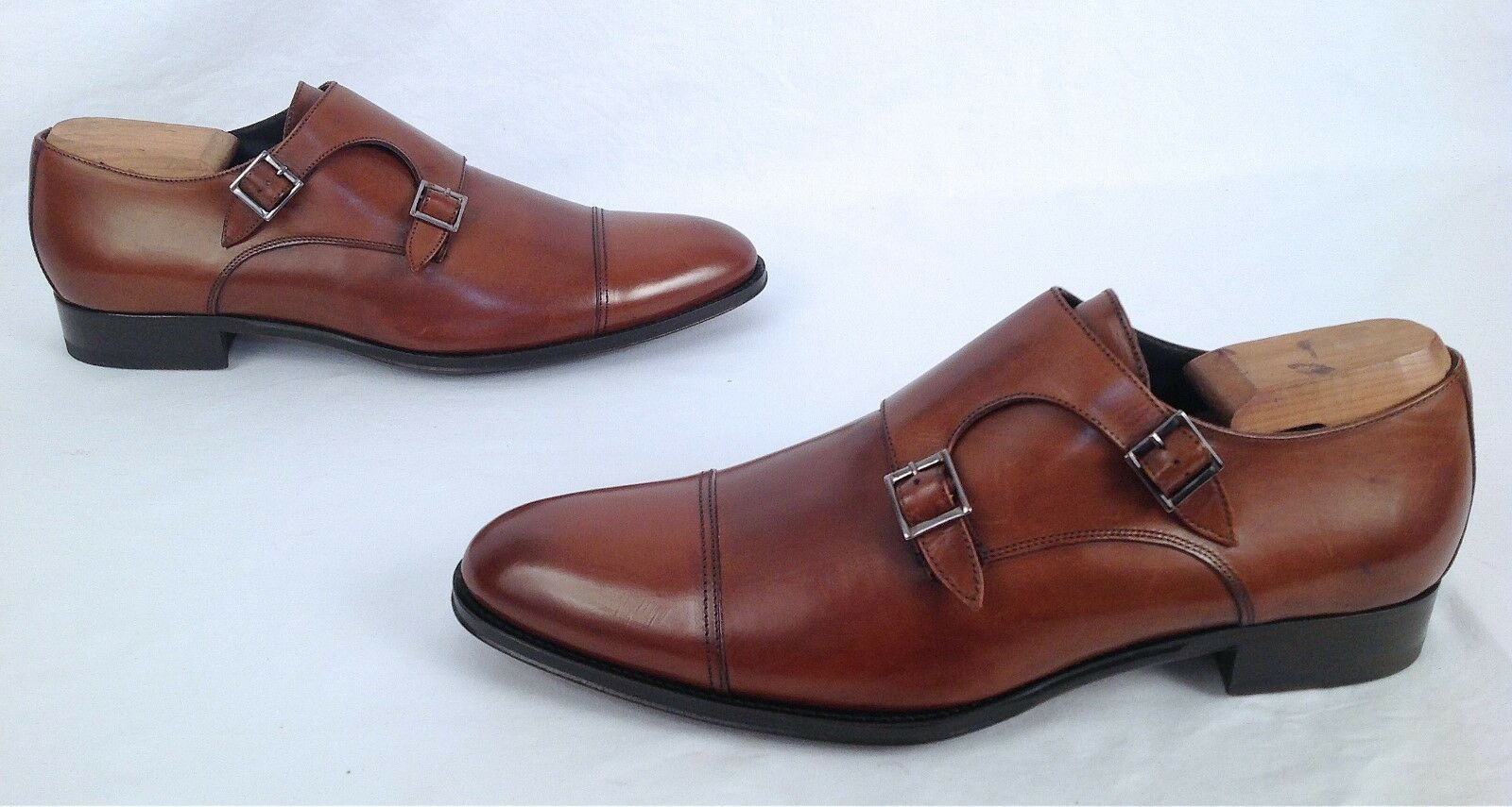 NEW!! To Boot New York 'Medford' Monk Strap- Cognac- Size 10.5M- 9 Scarpe classiche da uomo