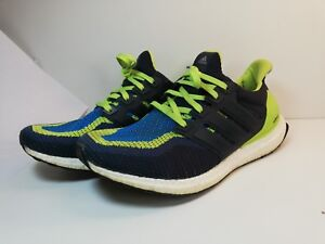 03e10a61673 Image is loading Adidas-Ultra-Boost-Solar-Slime-Green-blue-black-