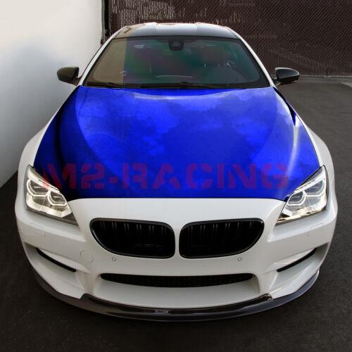 "*60/""x120/"" Blue Chrome Car Vinyl Wrap Sticker Decal Air Release Bubble Free"