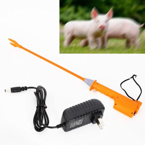 Rechargeable Cattle Electric Prod Shock Voltage 8000V Livestock Prodder 65CM