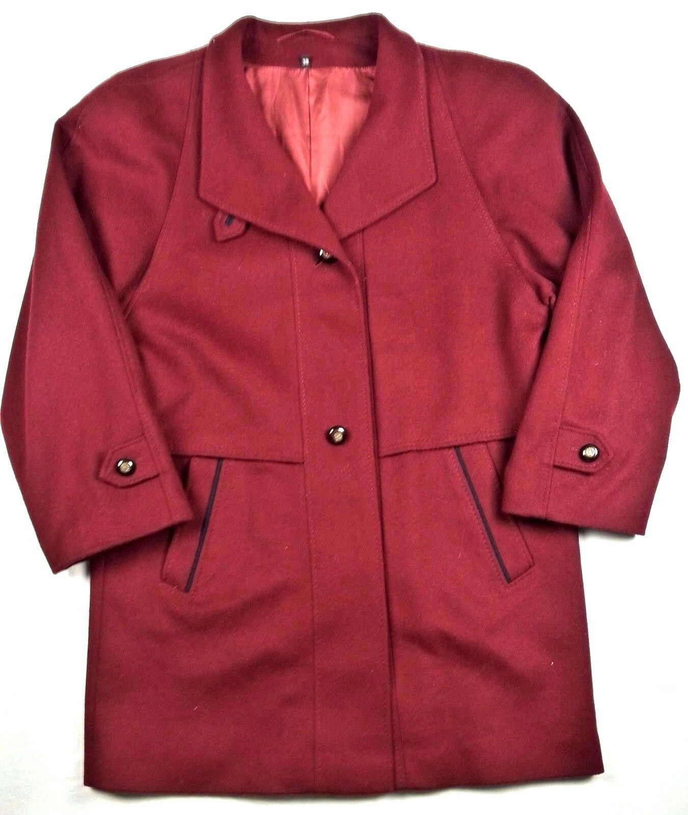 Manfred Mettner Womens Wool Coat Size 38 Aquila Alpacca Loden Berlin Alapca