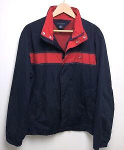 Details zu Vtg 90s Tommy Hilfiger Jacket Men's Size L Color Block Full Zip Flag Logo