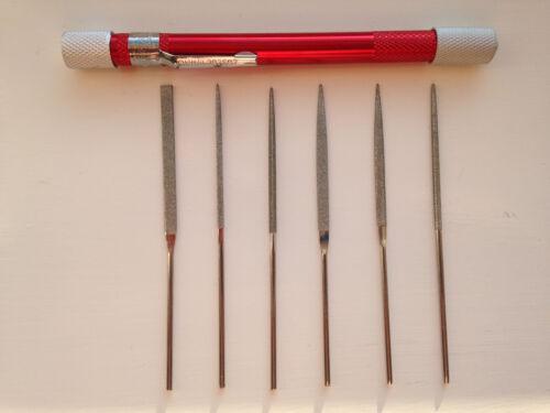 Diamond Files Filing personnels Ensemble 7 pièces s/'insère dans un porte-stylo NEUF