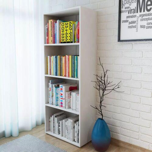 vidaXL Bookshelf Chipboard Standing Storage Display Oak//White Multi Sizes