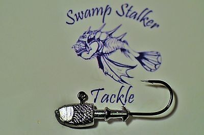 Swamp Stalker Jig Heads 4.g 1/7 oz Gamakatsu Hooks great for all Soft Plastics