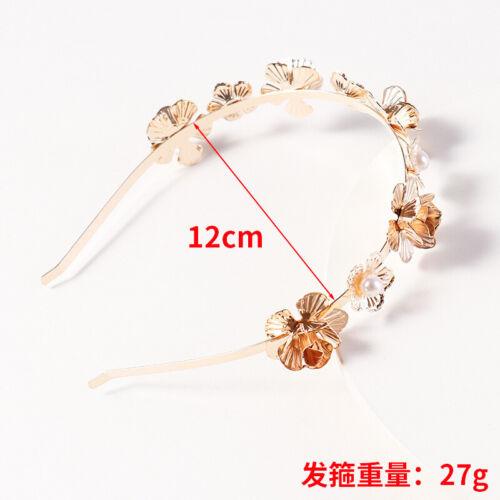 Women/'s Flower Hairband Hoops Alloy Leaf Headband Vintage Hair Accessories Crown