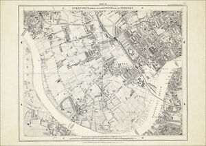 Old Map London 1877 13 Repro Fulham Walham Green Parsons Green