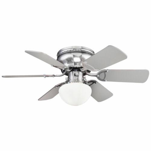 LED Decken Ventilator Lüfter Lampe 3-Stufen Wohn Ess Zimmer Vor-Rücklauf Kühler