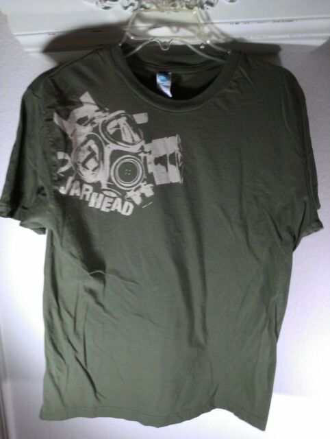 L olive green T-Shirt JARHEAD marine corp GAS MASK the Core HERO serve PROUD