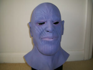 Horreur Halloween Cosplay Thanos Latex Plein Overhead Masque-afficher Le Titre D'origine