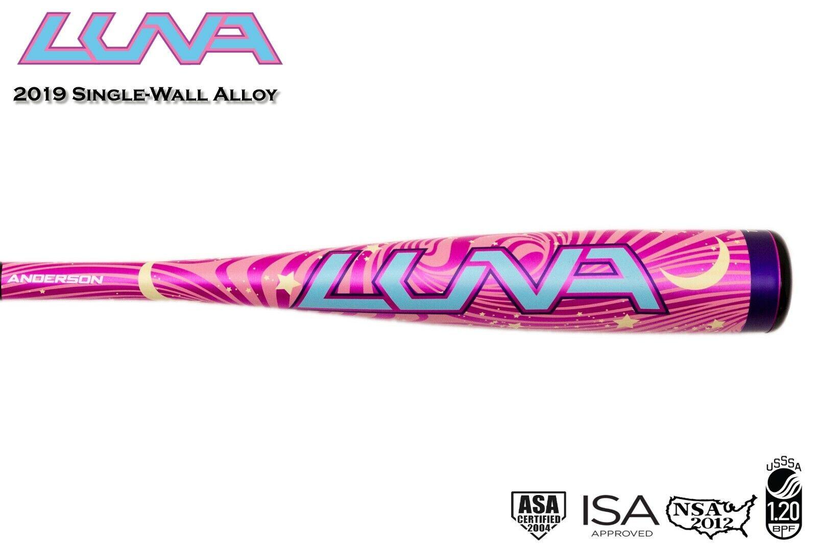 2019 Anderson Luna Pink T-Ball Fastpitch Bat