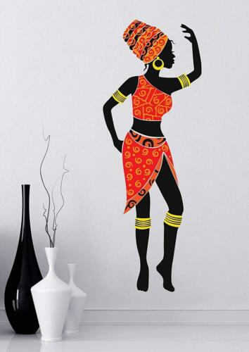 Beautiful African Girl Wall Stickers Nursery Bedroom Removable Mural Decal Decor