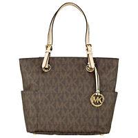 Michael Kors Jet Set Signature Logo Tote Handbag in Brown