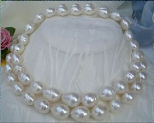 """0088 Nouveau Grand 36/""""10-11MM South Sea Perle Blanche Collier AAAA"""