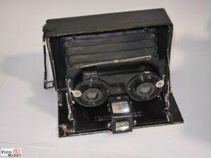 Ernemann-Stereo-Kamera-Heag-XV-Objektiv-Detectiv-Aplanat-1-6-8-F-90-mm
