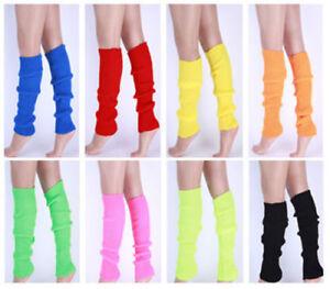Womens-Leg-Warmers-Girls-Warm-Knit-Crochet-High-Knee-Winter-Leggings-Boot-Socks