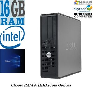 Fast-Dell-Dual-Core-C2D-PC-computer-desktop-tower-Windows-10-WIFI-16GB-SSD-2TB
