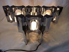 Mid Century 70er Tisch Lampe Licht Objekt Steck System 5 Teile #<3