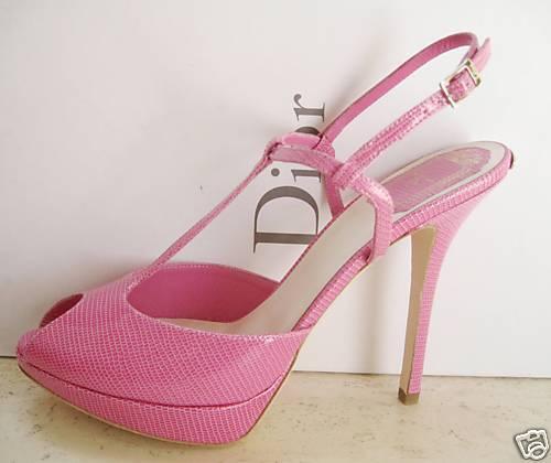 NIB Christian Dior MISS DIOR T-Strap Platform shoes 39