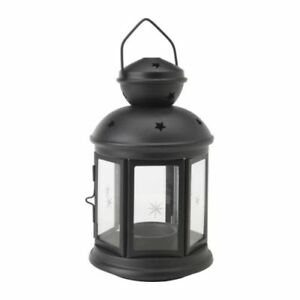 6-Black-Metal-Miners-Lantern-night-light-outdoor-balconey-deck-garden-decoration