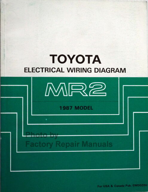 1987 Toyota Mr2 Electrical Wiring Diagrams Original