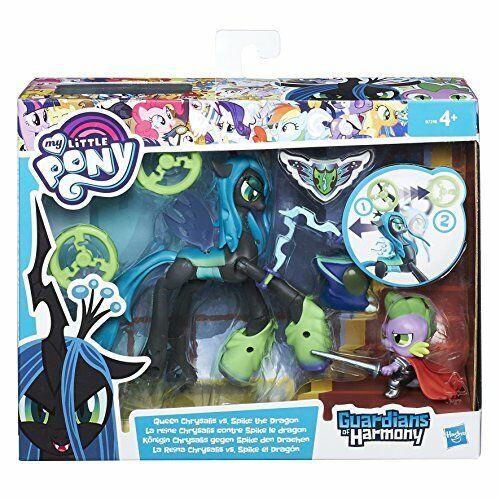Hasbro b6009 My Little Pony Gardiens of Harmony Queen Chrysalis vs spike the DR
