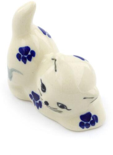 "Polish Pottery Cat Figurine 2/"" Boo Boo Kitty Paws"