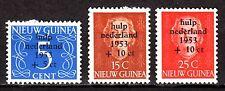 Dutch New Guinea - 1953 Flooding aid - Mi. 22-24 MH