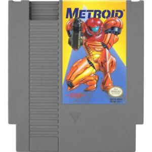 Metroid-Yellow-Label-Nintendo-Entertainment-System-NES-Game-Cartridge-CLEAN-VG