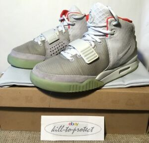 new styles 8e885 f0f4c Image is loading USED-NIKE-AIR-YEEZY-2-PLATINUM-Wolf-Grey-