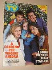 TV SORRISI CANZONI=1986/47=FAMIGLIA ALBANO ROMINA POWER YLENIA CARRISI CRISTEL