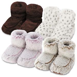 c46b5eb0233 Image is loading Intelex-Warmies-Boots-Cozy-Plush-Microwaveable-Warm-Fluffy-