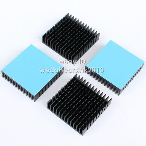 10pcs 40*40*11mm Aluminum Heatsink For PC IC Radiator With Blue Thermal Pad Tape