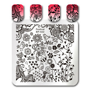 BORN-PRETTY-Nail-Art-Stamp-Template-Festival-Flower-Bird-Stamping-Image-Plate