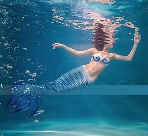 Costume Coda Sirena 4 Punte Donna Swimsuit Mermaid Tail Mare Piscina SMZ013 D P