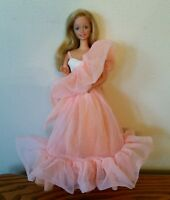 1980's Peaches N' Cream Barbie doll dress and doll TLC