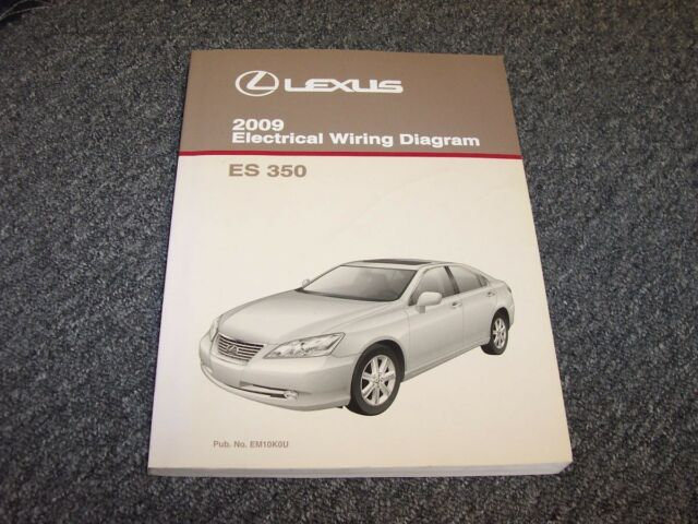2009 Lexus Es350 Sedan Factory Original Electrical Wiring Diagram Manual 3 5l V6
