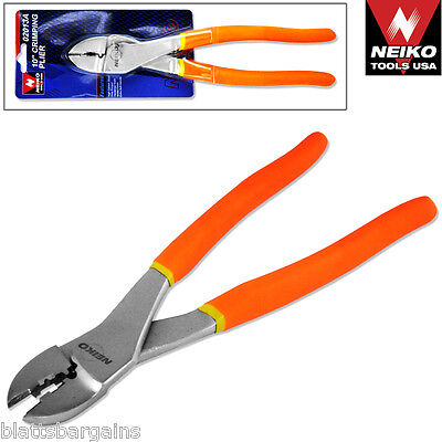 "NEIKO TOOLS USA 10"" CRIMPING PLIERS 02013A WIRE TERMINAL TOOL CONNECTOR BUTT"