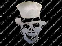 Steam Punk Skull Top Hat Monocle Mustache Gambler Victorian Rat Rod Chopper Usa