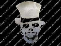Steam Punk Skull Top Hat Monocle Mustache Gambler Victorian Rat Rod Chopper Usa