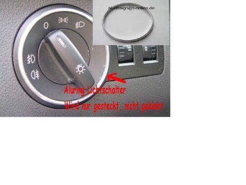 Alu Ring für Lichtschalter Aluring Skoda Fabia II 5J Chrom