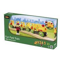 Brio Fun Park Train 3 Pack Wooden Railway 33741