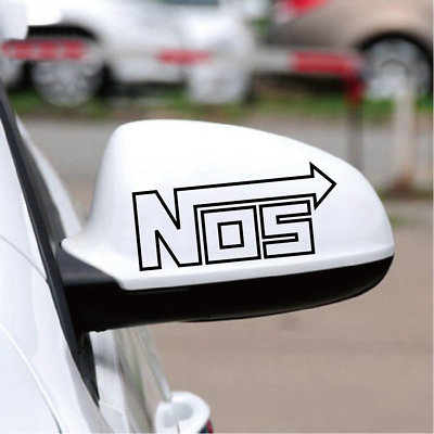 NOS Nitrous Oxide Systems Mirror Car StickerCool Racing Accelerate JDM Decal