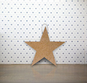 034-Star-034-Cork-Memo-Notice-Board-message-home-office-wall-pinboard-7-pins