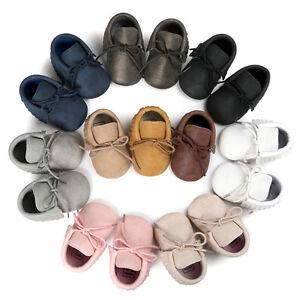 Petit-Enfant-Nouveau-Ne-Bebe-Garcon-Fille-Glands-Chaussures-Creche-Cuir